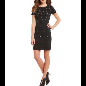MK short sleeve studded shift dress, size M, new